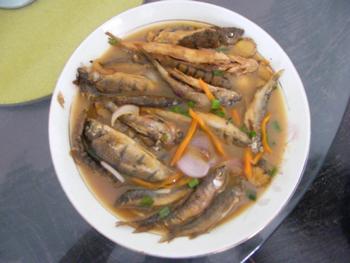 楠溪江新鲜溪鱼.溪鱼干以及岩螺
